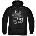 The Blues Brothers pull-over hoodie Hit It adult black