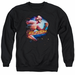 The Flash adult crewneck sweatshirt CW TV Fastest Man black
