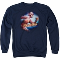 The Flash adult crewneck sweatshirt CW TV Fastest Man navy