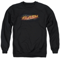 The Flash adult crewneck sweatshirt CW TV Logo black