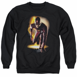 The Flash adult crewneck sweatshirt CW TV Ready black