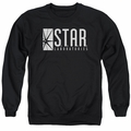The Flash adult crewneck sweatshirt CW TV S.T.A.R. black