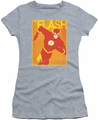 The Flash juniors t-shirt Flash Poster athletic heather