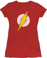 The Flash juniors t-shirt Rough Flash red