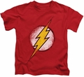 The Flash kids t-shirt Destroyed Logo red