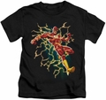 The Flash kids t-shirt Electric Death black
