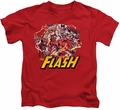 The Flash kids t-shirt Family red