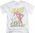 The Flash kids t-shirt Fast Moves white