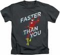 The Flash kids t-shirt Faster Than You charcoal