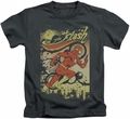 The Flash kids t-shirt Just Passing Through charcoal