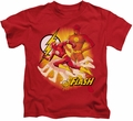 The Flash kids t-shirt Lightning Fast red