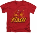 The Flash kids t-shirt Rough Distress red