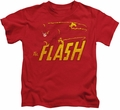 The Flash kids t-shirt Speed Distressed red