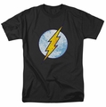 The Flash Neon Distress Logo mens t-shirt