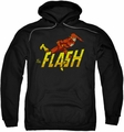 The Flash pull-over hoodie 8 Bit Flash adult black