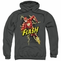 The Flash pull-over hoodie Bolt Run adult charcoal