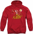 Flash pull-over hoodie Crimson Comet adult red