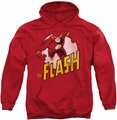 Flash pull-over hoodie Superhero adult red