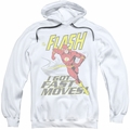The Flash pull-over hoodie Fast Moves adult white