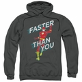 The Flash pull-over hoodie Faster Than You adult charcoal
