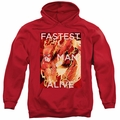 The Flash pull-over hoodie Fastest Man Alive adult red