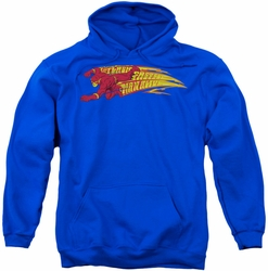 Flash pull-over hoodie Fastest Man Alive adult royal blue