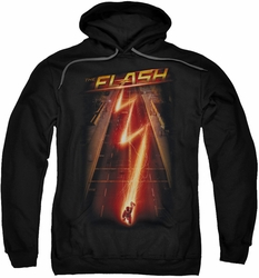 The Flash pull-over hoodie Flash Ave adult black