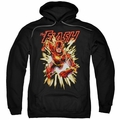 The Flash pull-over hoodie Flash Glow adult black