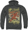 The Flash pull-over hoodie Just Passing Through adult charcoal