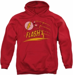 Flash pull-over hoodie Like Lightning adult red