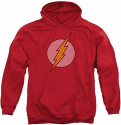 Flash pull-over hoodie Little Logos adult red