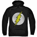 The Flash pull-over hoodie Logo Distressed adult black
