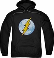 The Flash pull-over hoodie Neon Distress Logo adult black