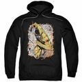 The Flash pull-over hoodie Reversed adult black