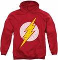 Flash pull-over hoodie Rough Logo Symbol adult red