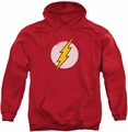 Flash pull-over hoodie Rough Logo adult red