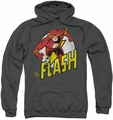 The Flash pull-over hoodie Run Flash Run adult charcoal