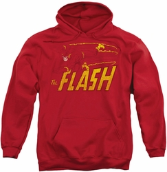 Flash pull-over hoodie Speed Distressed adult red