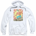 The Flash pull-over hoodie Tattered Poster adult white