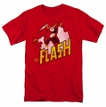 The Flash t-shirt Circled Profile mens red
