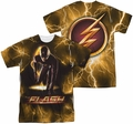 The Flash TV Show full sublimation t-shirt Bolt short sleeve carolina blue