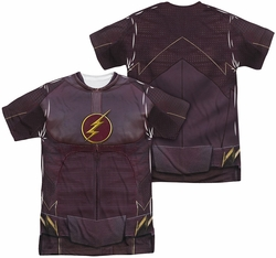 The Flash TV Show full sublimation t-shirt Flash Uniform short sleeve carolina blue
