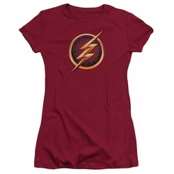 The Flash TV show juniors t-shirt Chest Logo cardinal