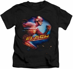 The Flash TV Show kids t-shirt Fastest Man black