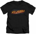 The Flash TV Show kids t-shirt Logo black