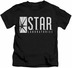 The Flash TV Show kids t-shirt STAR Laboratories black