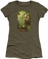 The Hobbit juniors t-shirt In The Woods military green