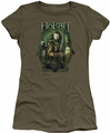 The Hobbit juniors t-shirt Thorin And Company military green