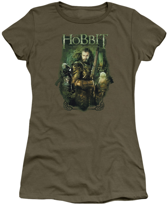 The hobbit juniors t shirt thorin and company military green for Military t shirt companies