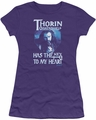 The Hobbit juniors t-shirt Thorins Key purple